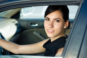 Woman in car. Title Loans Bakersfield