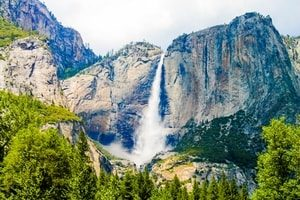 Yosemite waterfall. Fresno Title Loans