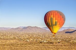 Hot air balloon. Title Loans Albuquerque