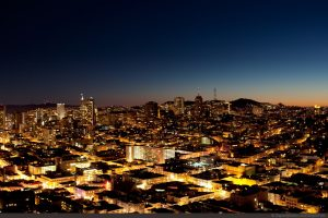 City lights. Fontana Title Loans