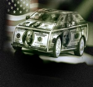 Car made of money