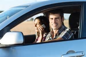 Man in car. Title Loans Commerce