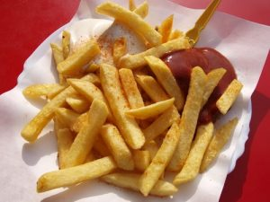 French fries and ketchup. Title Loans Express Anaheim can help you get a loan!