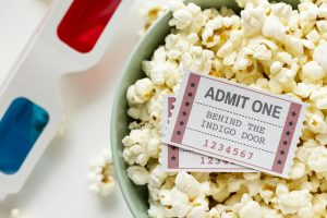 Movies, popcorns, 3d glasses. Carson Title Loans